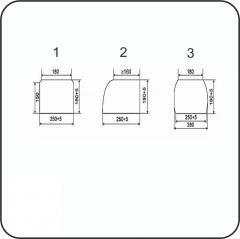 Брус переводной пропитанный тип А3-1