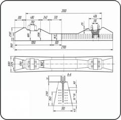 Брус стрелочный железобетонный пр. 2768