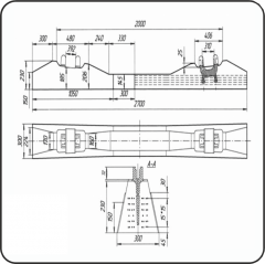Брус стрелочный железобетонный пр.2750