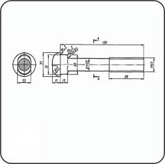 Болт стыковой М22х135 с гайкой