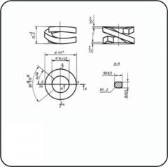 Шайба пружинная двухвитковая М22