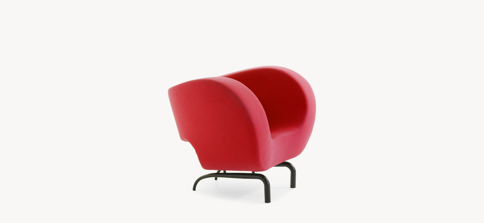 Chair on a steel framework upholstered with fabric Victoria