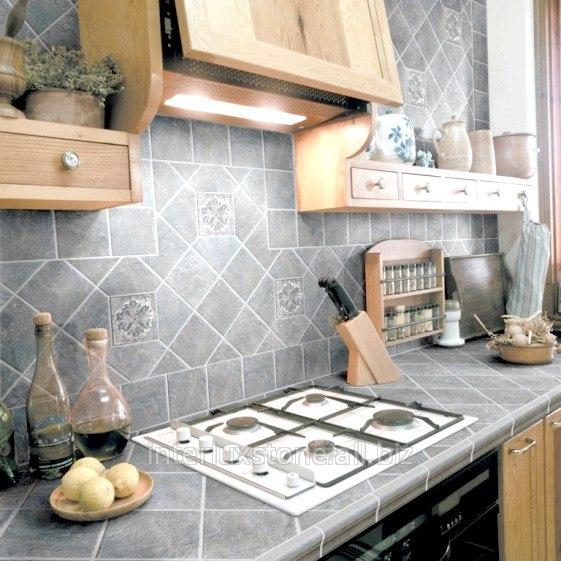 Как сделать кухню из плитки