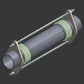 Компенсатор сильфонный сдвигово-осевой двухсекционный DLTKF