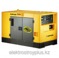 The unit welding KIPOR KDE 500 STW 3 in a noise-absorbing casing