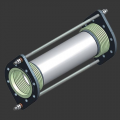 Compensator bellows-sealed shift and axial two-section DLTKF