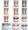 Фужеры и бокалы для шампанского, эксклюзивное цветное чешское стекло