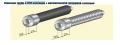 Стальная труба в ППУ изоляции с металлической заглушкой изоляции
