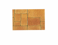 Плитка тротуарная Афинская мостовая, цветная, размер 330х330х40 мм, на белом цементе