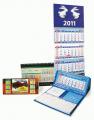 Календари квартальные на пружине, календари настольные перекидные, календарь домик