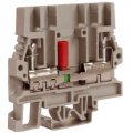Клеммный зажим SCB.6GR, тестовый с разъединителем серый 6 кв.мм