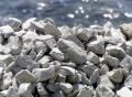 Crushed stone gravel fraction the 25-60th