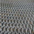 Expanded metal sheet, steel 308 3kp, 3SP, 3Ps, diamond scales, honeycomb