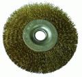 Shchetka-kratsovka, circular, with a copper covering, 50 mm