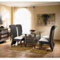 Стол обеденный со стеклом + 4 стула с подушками Lacoste