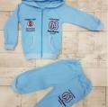 Спортивный костюм от 1 до 3 лет, цвет голубой, синий