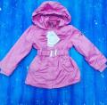 Легкая куртка для девочки от 5 до 8 лет