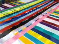 Satin bandă, 2,5 cm. Diferite culori