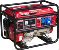 The generator petrol NAVIGATOR NPG7000E with an electric starter on wheels.