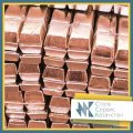 Copper in ingots chushka, the size of mm, GOST 193-79, ISO 431-81, brand mb1
