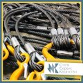 Slings cargo rope 2CK (two branches), the size are 15 mm, Diameter is 15 mm, L=4 m, loading capacity are 2,5 t.