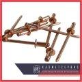 Copper rivet 6,4x14 MT DIN 7337