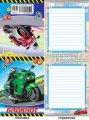 Блокнот А7 20л. линия тонкий Мотоциклы ( Полипринт )