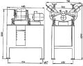 Виброобрабатывающая установка ВО 2х4 для скругления острых кромок и шлифования деталей