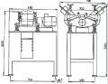 Виброобрабатывающая установка ВО 2х25 для скругления острых кромок и шлифования деталей