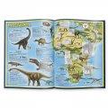 Атлас мира с наклейками Динозавры
