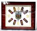 Часы настенные подарочные с погонами Общие войска