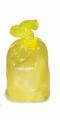 Мешки для утилизации медицинских отходов в Казахстане, Пакет для сбора и хранения отходов желтого цвета  класс Б, 500х600, Пакеты для сбора и хранения отходов желтого цвета