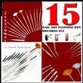 Набор кистей для дизайна Nail Art Brush 15шт
