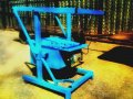 The machine for slag stone