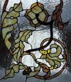 Stained-glass windows are classical, the mosaic combined.