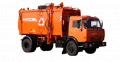 The garbage truck with side loading of KO-440-7 (KAMAZ-43253 chassis 4х2)