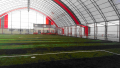 The covered sports constructions for sports grounds
