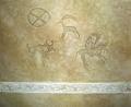 Имитация наскальных рисунков (Петроглифы)
