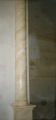 Imitation of plaster under yellow marble
