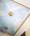 Потолок из полуматовой венецианской штукатурки