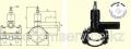 Вентиль для врезки с удлиненным патрубком DAV D225/50