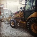 Snow cleaning by special equipmen