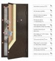 Steel entrance door of Ultra M 7