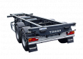 Semi-trailer container carrier