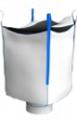 Биг-бэг полипропиленовый четырехстропный (ленточный), верхняя крышка (лацкан) нижний люк
