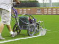 Installation for drawing a marking on sports grounds of FieldLazer S100