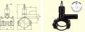 Вентиль для врезки с удлиненным патрубком модели DAV d200/63
