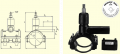 Вентиль для врезки с удлиненным патрубком в наборе с муфтой DAV(Kit) d63/40