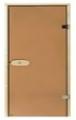 Дверь BURATINO стекло, бронза (черное)/ коробка сосна/ фурнитура произв-во Финляндия