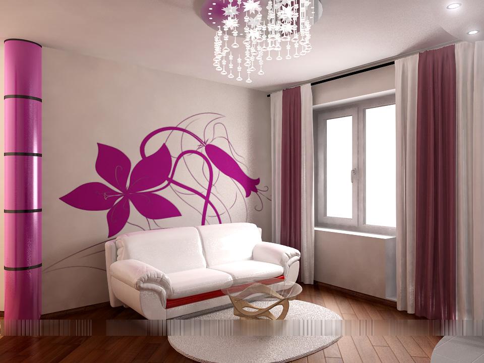 Дизайн покраска стен в квартире
